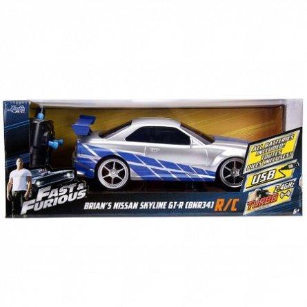 Masina Fast and Furious RC,Nissan Skyline GTR 1:16