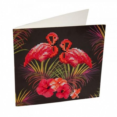 Set creativ cu cristale,Flamingo roz