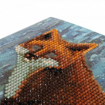 Set creativ cu cristale,Vulpea iernii