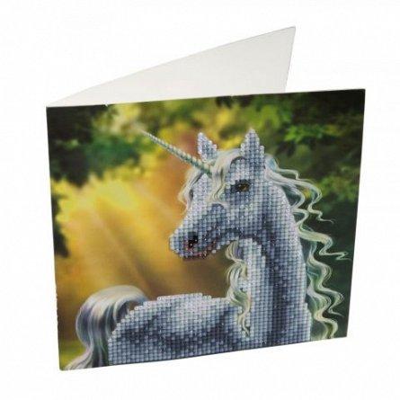 Set creativ cu cristale,Unicornul raza soarelui