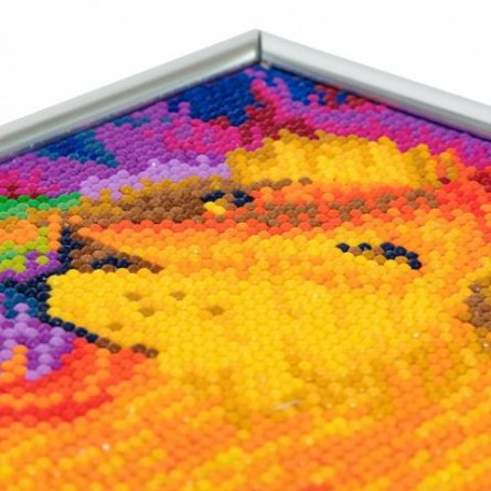 Set creativ cu cristale,rama foto,Curcubeul leului