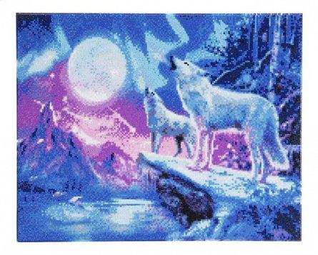Kit arta cu cristale,Lupii in lumina nordului