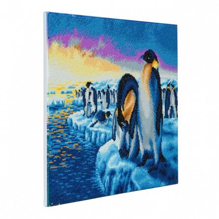 Tablou creativ cu cristale,Pinguini