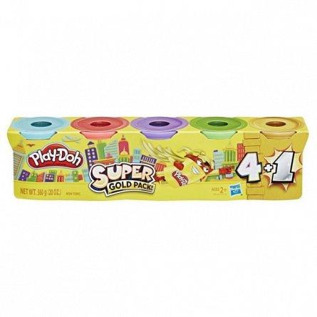 Set Play-Doh,pachet 4+1,div.culori