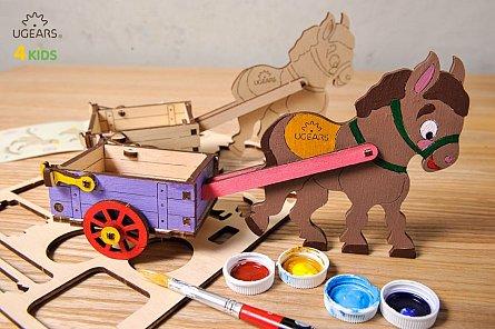 Puzzle mecanic,Magarus,lemn,+3Y