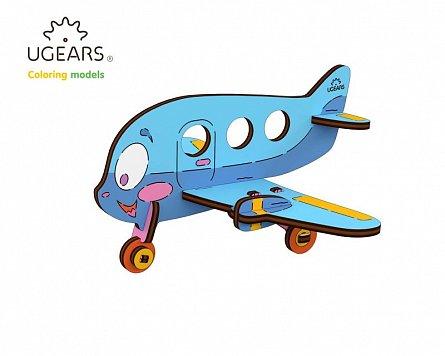 Puzzle mecanic,Avion,lemn,+3Y
