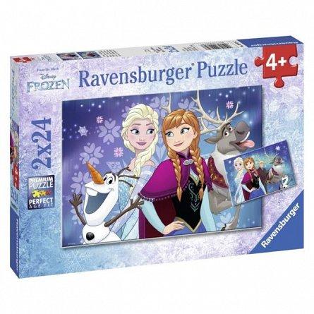 Puzzle Ravensburger - Frozen, 2x24  piese