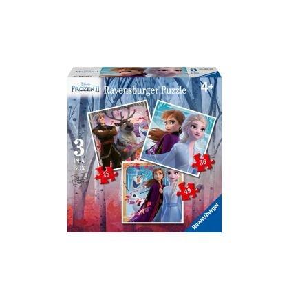Puzzle Ravensburger - Frozen 2, 25/36/49  piese