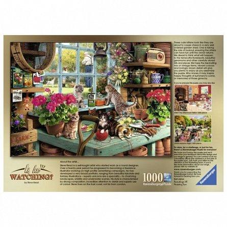 Puzzle Ravensburger - Pisicute pe masa, 1000  piese