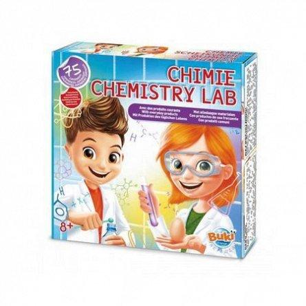 Laborator de chimie,kit 75 experimente,Buki,+8Y