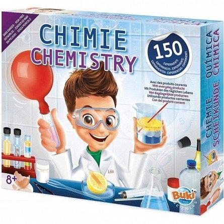 Laborator de chimie,kit 150 experimente,Buki,+8Y
