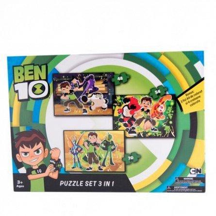 Puzzle Ben10,3in1,cu bonus,48/54/70