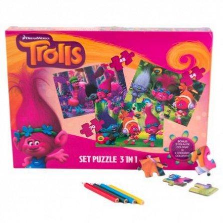 Puzzle Trolls,3in1,cu bonus,48/54/70