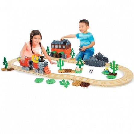 Blocuri de constructie,tren cu aburi,Little Tikes