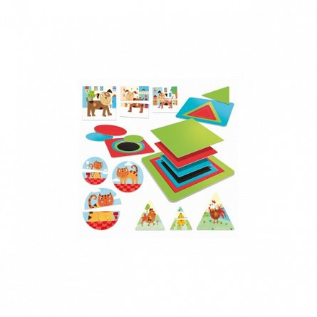 Joc educativ Headu - Montessori, Forme si culori