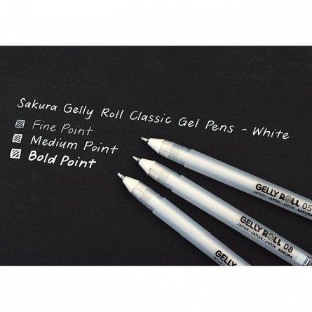 Pix cu gel Sakura Gelly Roll,Basic,10,alb