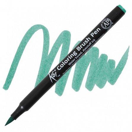 Marker varf pensula,Sakura Koi,blue green light