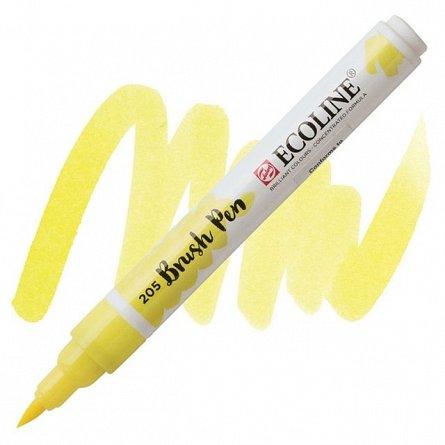 Marker varf pensula,Ecoline,yellow lemon