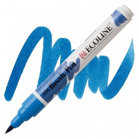 Marker varf pensula,Ecoline,ultram deep