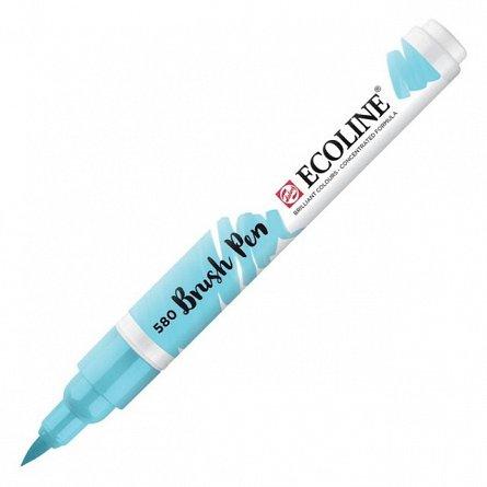 Marker varf pensula,Ecoline,blue pastel