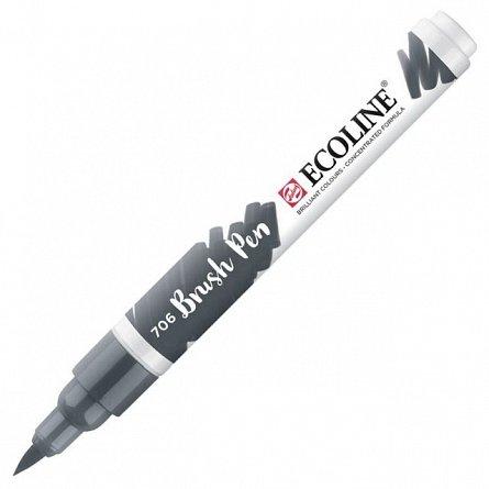 Marker varf pensula,Ecoline,deep grey