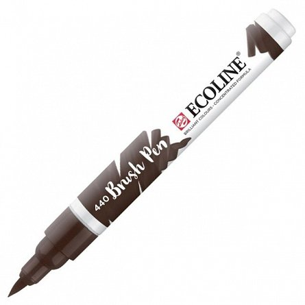Marker varf pensula,Ecoline,sepia deep