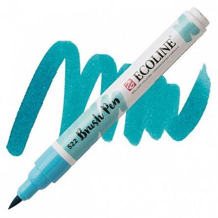 Marker varf pensula,Ecoline,turquoise