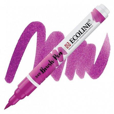 Marker varf pensula,Ecoline,red violet
