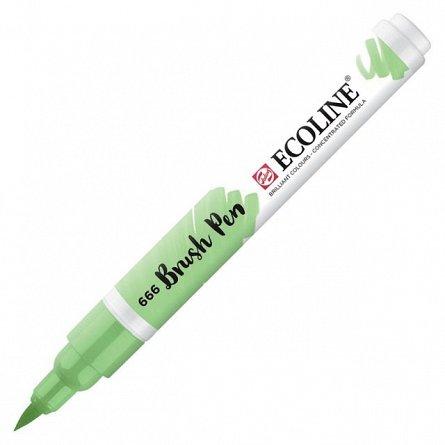 Marker varf pensula,Ecoline,pastel green