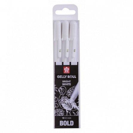Pix cu gel Sakura Gelly Roll,Basic,10,3buc/set,alb