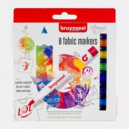 Marker pt textile,Bruynzeel,8buc/set