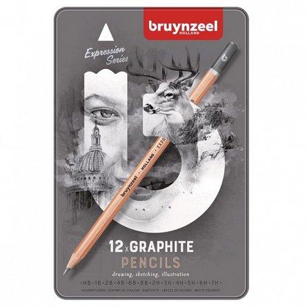 Creion grafit,Bruynzeel,Expression,12buc/cut.metal