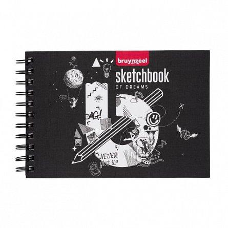 Bloc desen cu spira Bruynzeel Sketchbook, A5, 30 file, hartie de 250 g