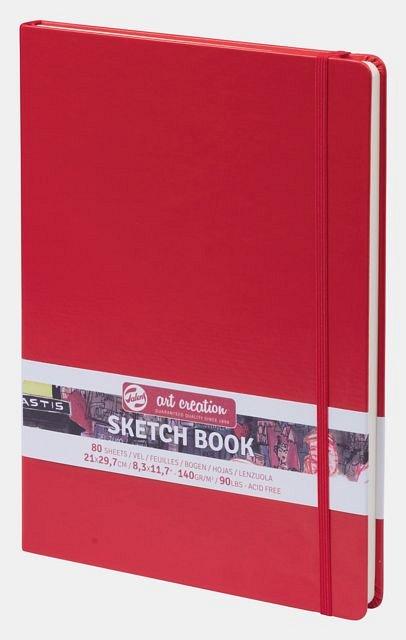 Caiet schite (SketchBook), 21x30cm, 80f, 140g, Art Creation, rosu