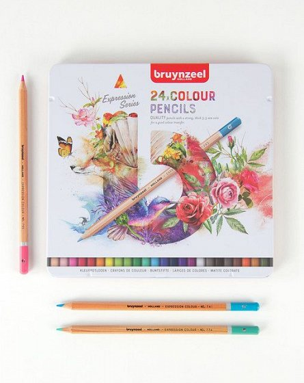 Creioane colorate,Bruynzeel,Expression,24buc/cut.metal