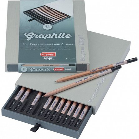 Creion grafit,fara radiera,Bruynzeel Design,12buc/set
