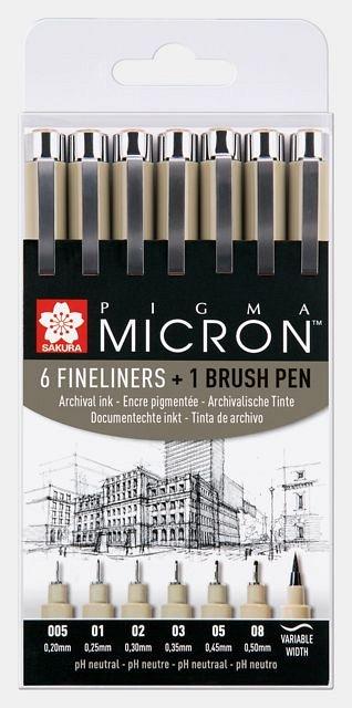 Set Sakura Pigma Micron,7buc/set,black