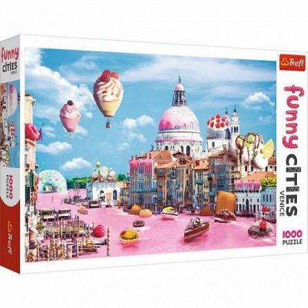 Puzzle Prajiturele la Venetia,1000 pcs,Trefl