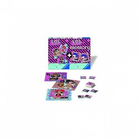 Puzzle + Joc Memory Lol, 25/36/49 Piese,Ravensburger