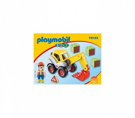 Playmobil-1.2.3 Excavator cu brat mobil