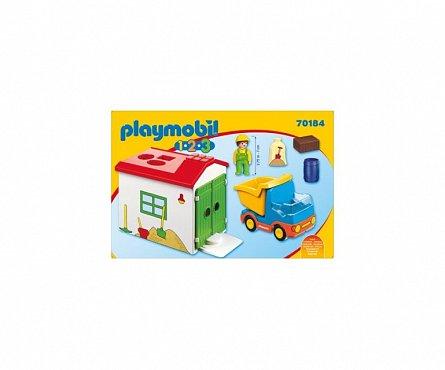 Playmobil-1.2.3 Casuta cu forme si basculanta