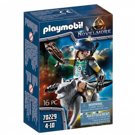 Playmobil-Cavaler Novelmore, arbaleta si lup,8ani+
