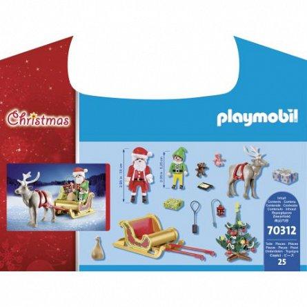Playmobil-Mos Craciun cu sanie,Set portabil,4ani+