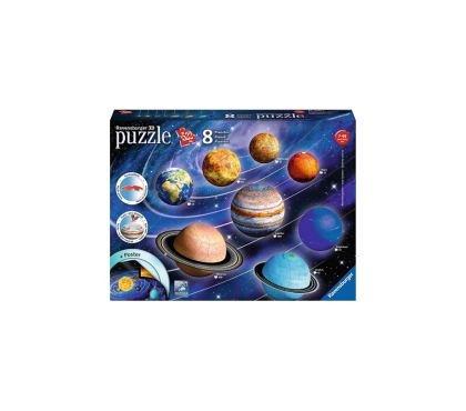 Puzzle 3D Sistemul solar,27/54/72/108 piese,7ani+