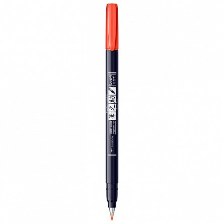Marker Fudenosuke Hard Small Writing,Orange