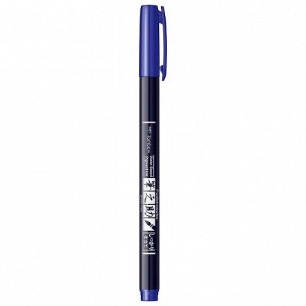 Marker Fudenosuke Hard Small Writing,Blue