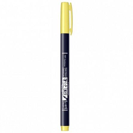Marker Fudenosuke Hard Small Writing,Neon Yellow