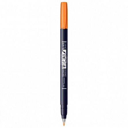 Marker Fudenosuke Hard Small Writing,Neon Orange