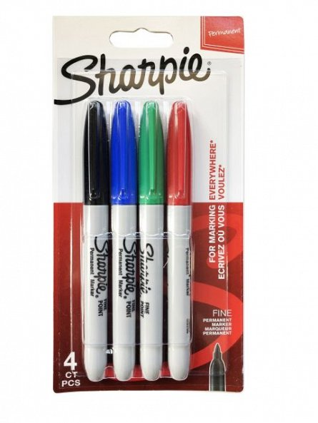 Marker Sharpie F,4b/set,culori standard