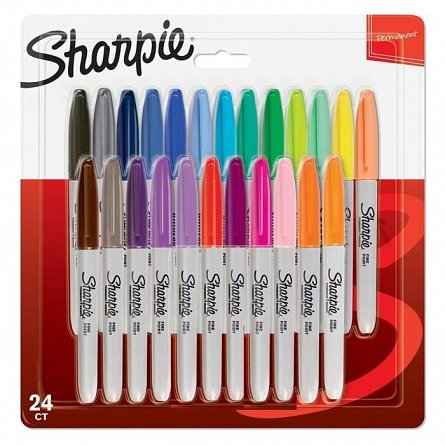 Marker Sharpie F,24b/set,divculori